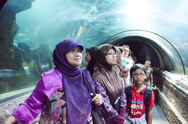 Keluarga EsHaPe di Seaworld (2012)
