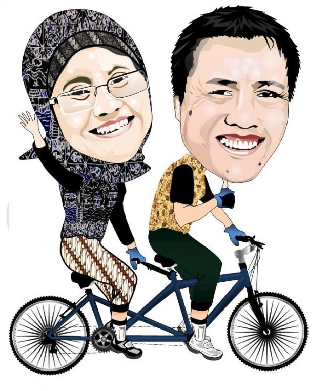 Bersepeda tandem itu mengasyikan