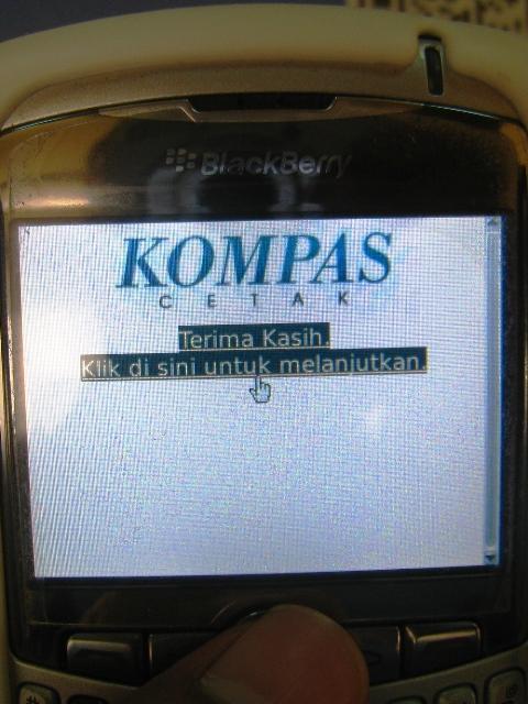 Informasi dibalik QR Code Kompas