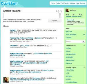 Status di twitter