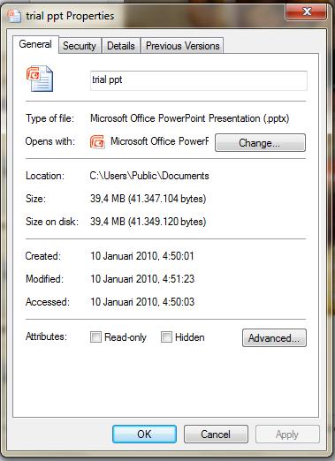 File ppt sebelum dikompres