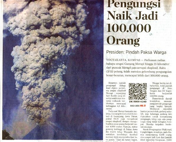 Headline Kompas tanggal 5 Nopember 2010