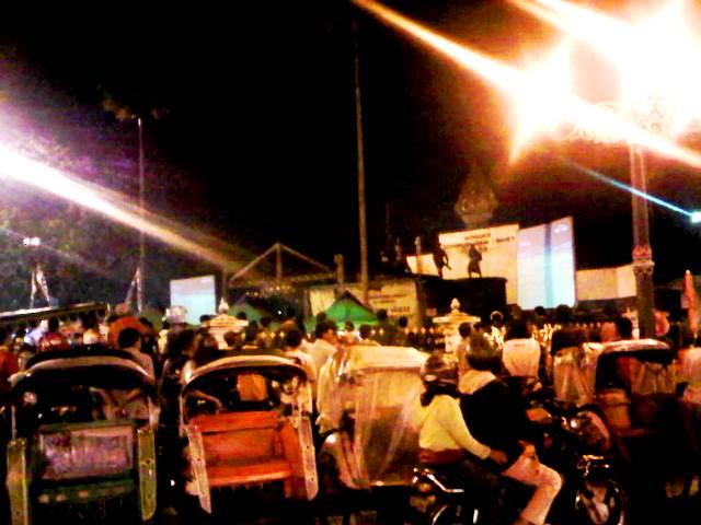 Nobar di km 0 Yogyakarta