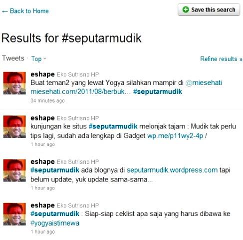 mudik di twitter hashtag #seputarmudik