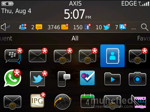 AXIS di Blackberry