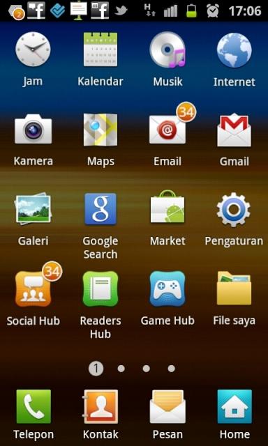 Telkomsel di Samsung Galaxy SII
