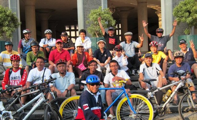 Peserta Sepedaan Rutin di Balairung