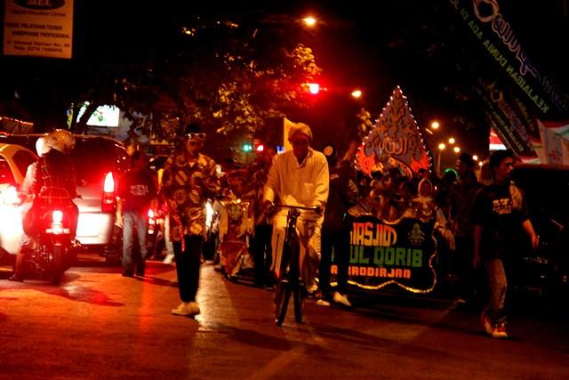 Takbir keliling (khas) di Kota Yogyakarta