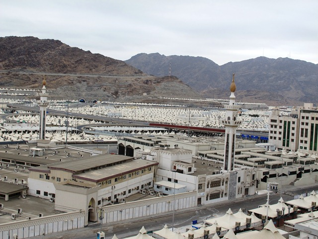 Lautan tenda yang akan penuh di Musim Haji