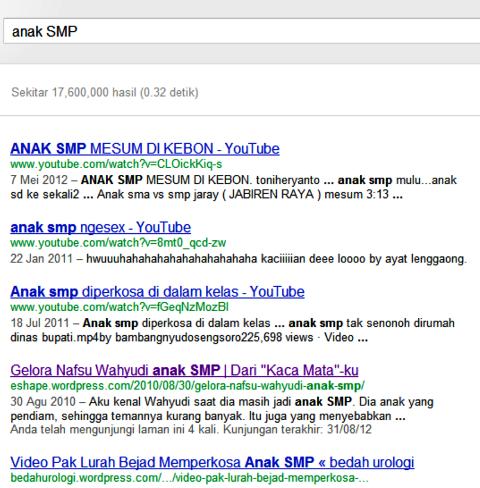 Anak SMP di Google