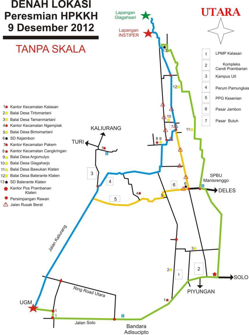 Peta lokasi penghijauan HPKKH