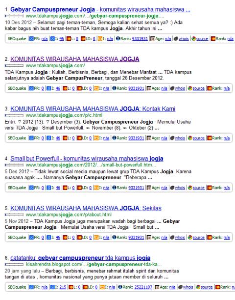Gebyar Campuspreneur google