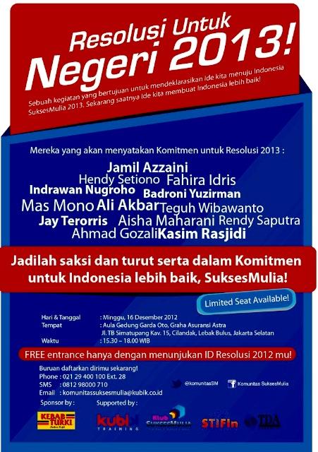 Resolusi untuk negeri 2013