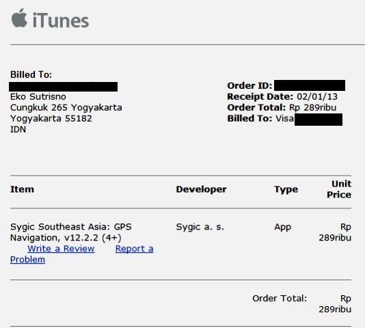 Belilah aplikasi berbayar di iTunes