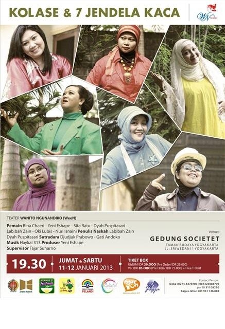 Poster Teater Wanito Ngunandiko 7 Jendela Kaca
