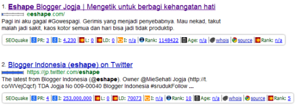 Manfaat toolbar SEOquake