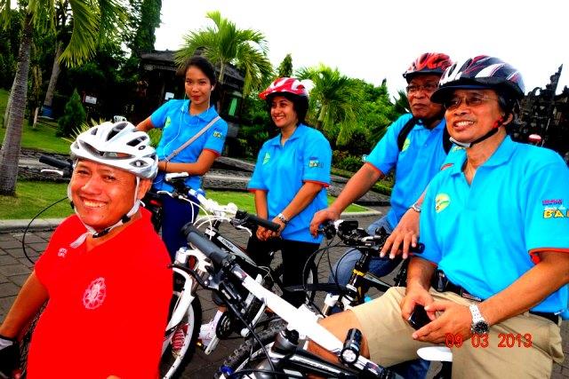 Hari pertama gowes Bali
