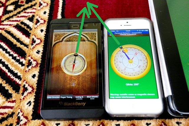BB Z10 dan iPhone 5 beda kiblatnya