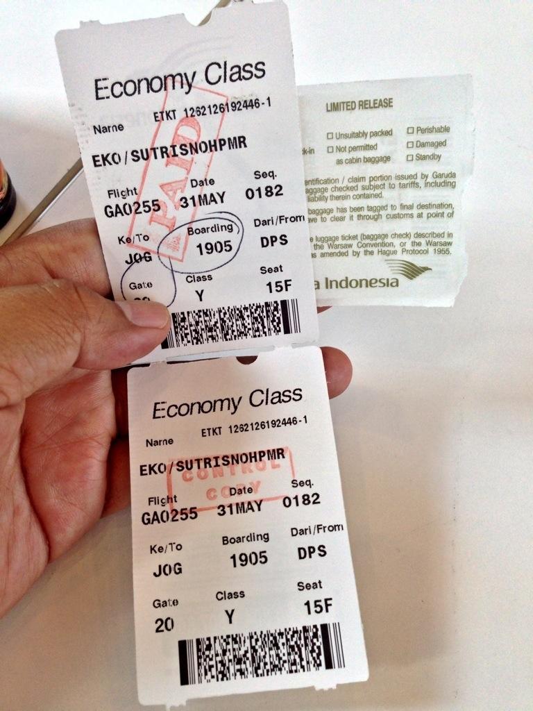 Boarding pass Garuda