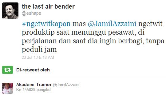 RT mas Jamil Azzaini