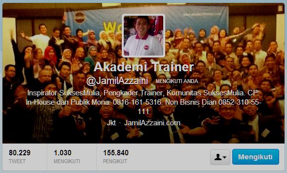 Akun twitter Jamil Azzaini
