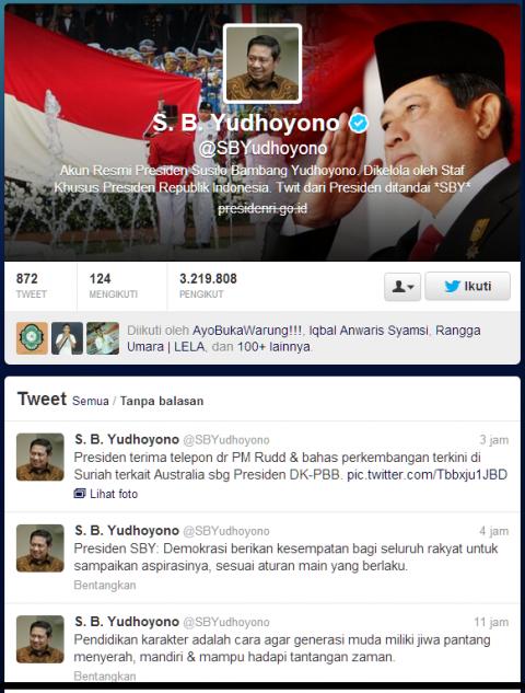 Twitter Presiden SBY