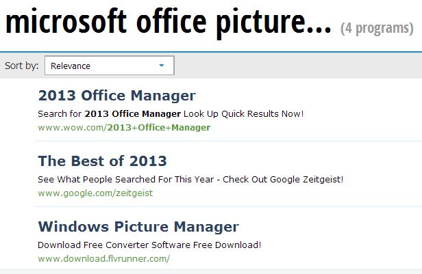 Tidak ada link Microsoft Office Picture Manager