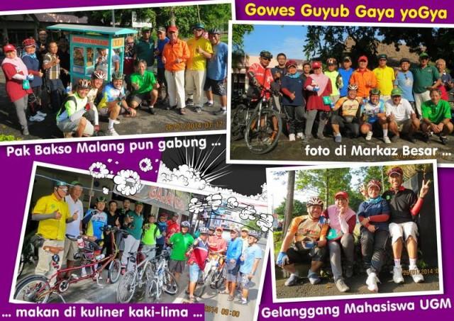 Komunitas Gowes UGM (foto : Djoko Luknanto)