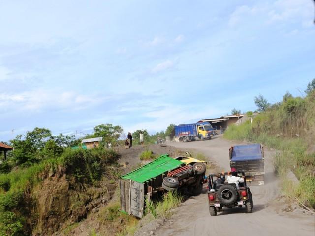 menuju Lava Tour Merapi