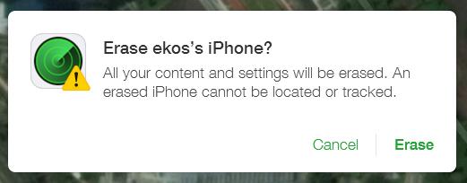 erase iPhone 5 yang hilang