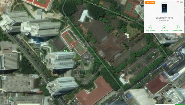 Lokasi iPhone 5 yang hilang