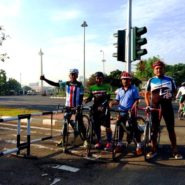 Sepedaan Jakarta CFD harus lewat MONAS