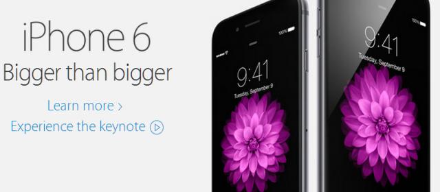 iPhone 6 dari situs Apple Indonesia