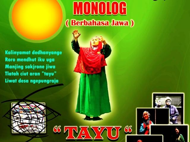"""""""TAYU"""" pentas Monolog Jawa dari Yeni Eshape"""