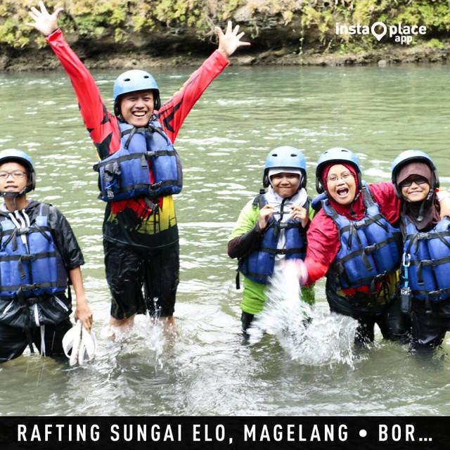 Hidup itu indah, yuk Rafting di Sungai Elo
