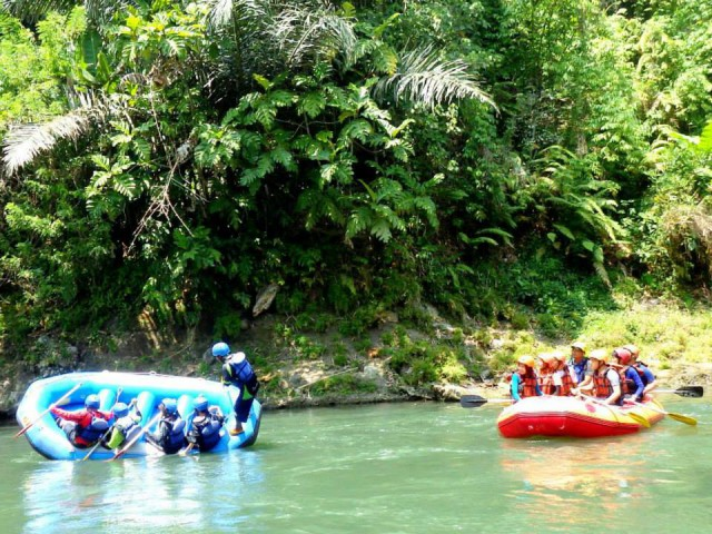 Menenggelamkan diri di Rafting Sungai Elo
