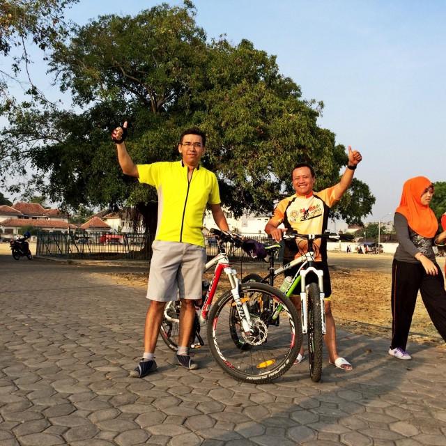 Sepedaan di Alun alun Solo