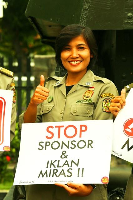 Stop Sponsor dan Iklan Miras