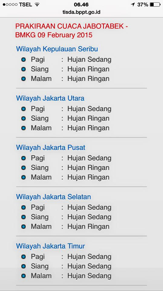 Ramalan cuaca Jakarta