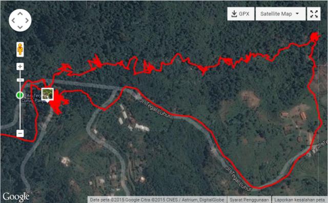 Rute Trekking Curug Panjang