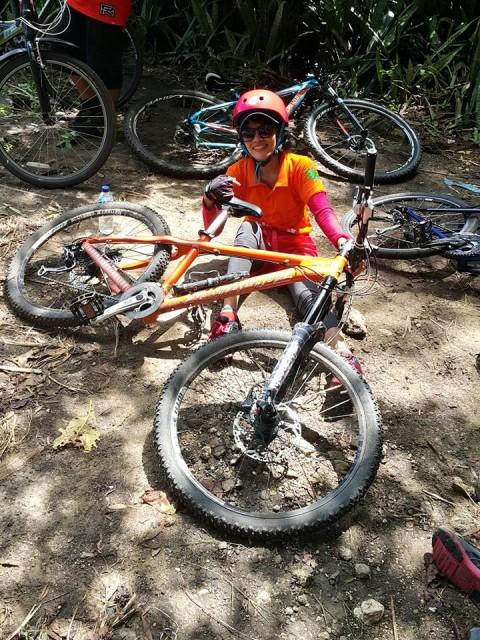 Sepeda Yudi Aning yang kupinjam pakai