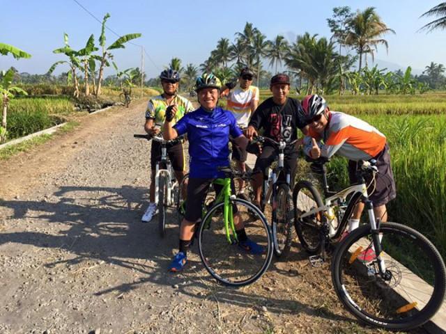 Salah rute sepeda