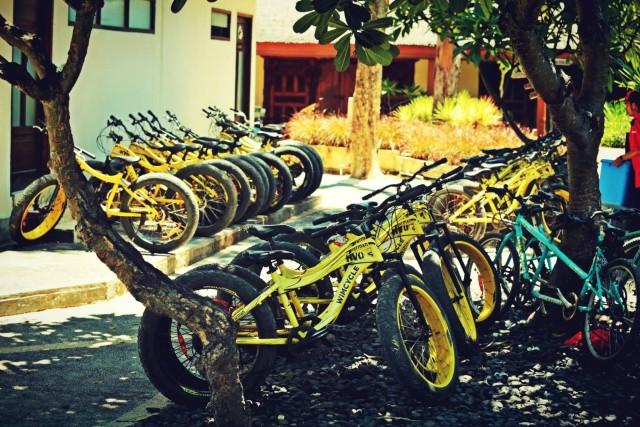Sepeda sewa di Gili Trawangan