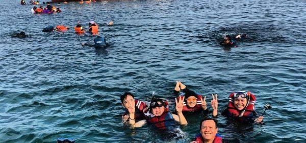 snorkeling tidung
