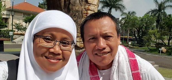 jalan sehat sambil manasik haji di Bandung