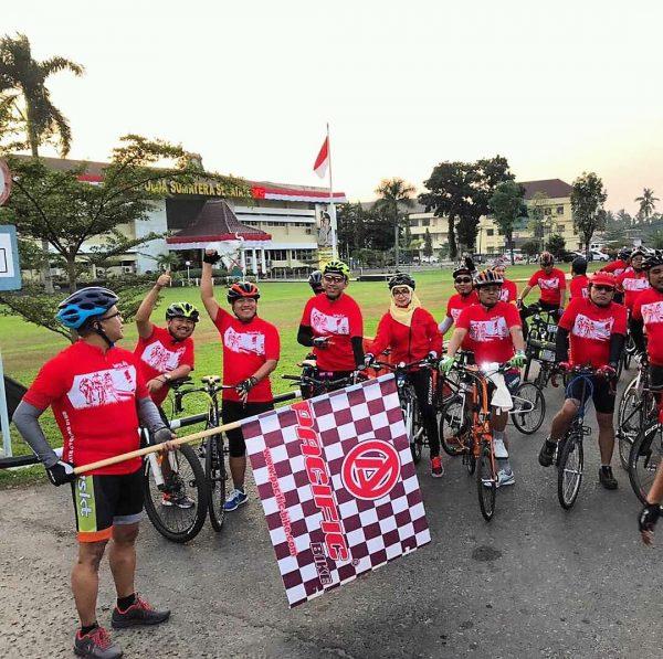 Start Gowes Palembang oleh DirOp 3