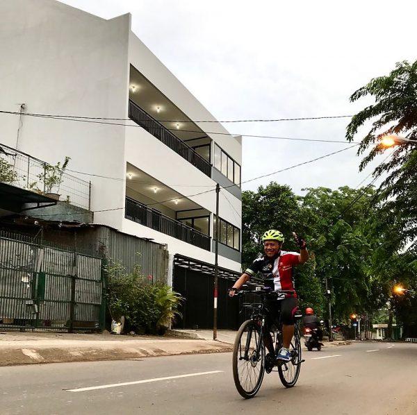kebiasaan keliling Cawang sebelum start