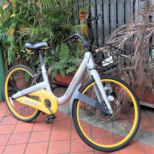 Parkir sepeda di Singapura
