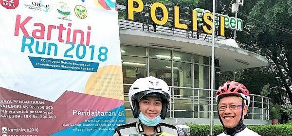 poster Kartini Run (abaikan foto polwan)