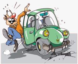 Keluar, turun dan menjauh dari mobil hindari jika terjadi pergeseran atau kebakaran